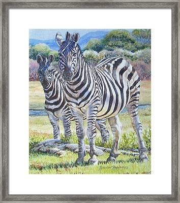 Lucky Stripes Framed Print