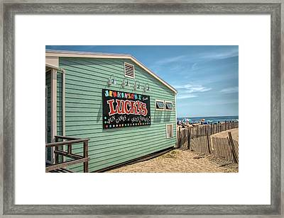 Framed Print featuring the photograph Luckys At Jenkinsons South by Kristia Adams