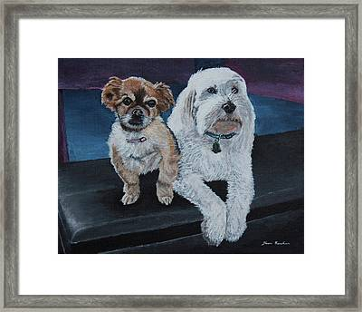 Lucy And Colby Framed Print