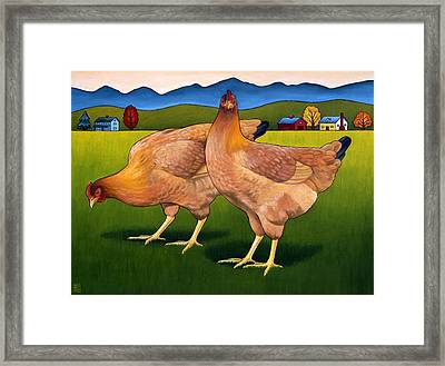 Lucy And Ethel Framed Print