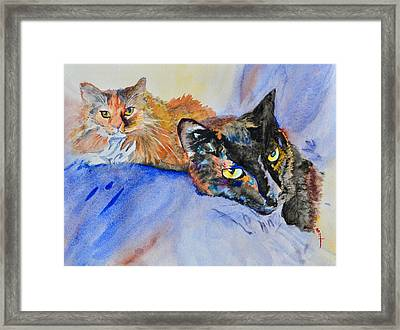 Lucy And Lula Framed Print by Beverley Harper Tinsley