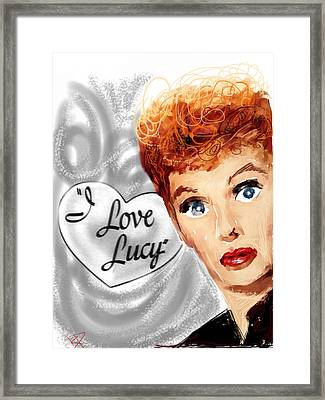 Lucy Framed Print by Russell Pierce
