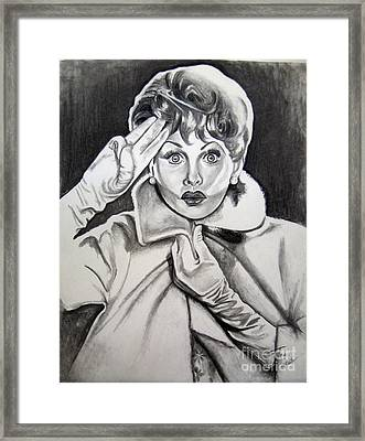 Lucy Framed Print by Toni  Thorne