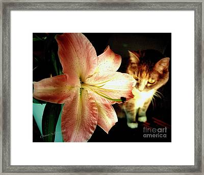 Lucy With Lily Framed Print