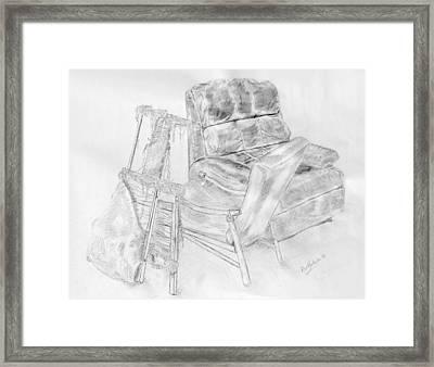 Lucya's Stool  2010 Framed Print by Alex Mortensen