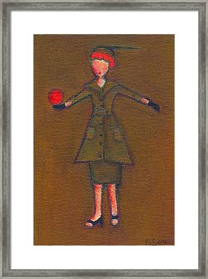 Lucy's Burning Red Ball Framed Print