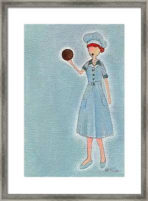 Lucy's Chocolate Covered Ball Framed Print