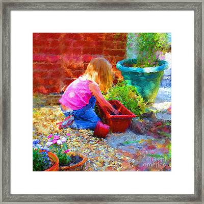 Lucys English Garden Framed Print by Marilyn Sholin