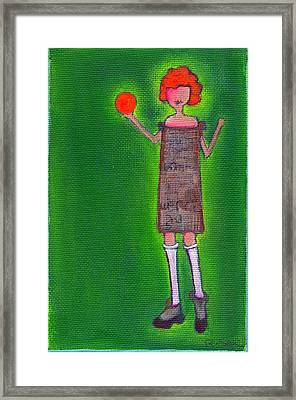 Lucy's Fritzy Orange Ball Framed Print by Ricky Sencion