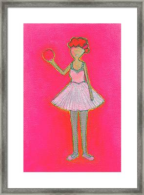 Lucy's Hot Pink Ball Framed Print