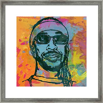 Ludacris Pop Stylised Art Poster Framed Print by Kim Wang