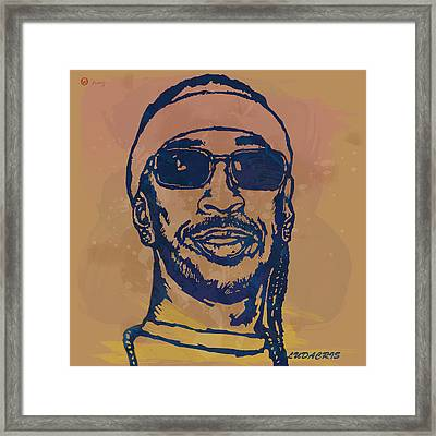 Ludacris Pop Stylised Art Sketch Poster Framed Print by Kim Wang