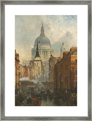 Ludgate, Evening Framed Print by John O'Connor