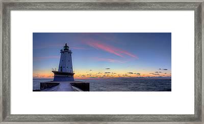 Ludington Michiga Lighthouse Framed Print