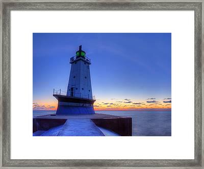 Ludington Michigan Lighthouse Framed Print
