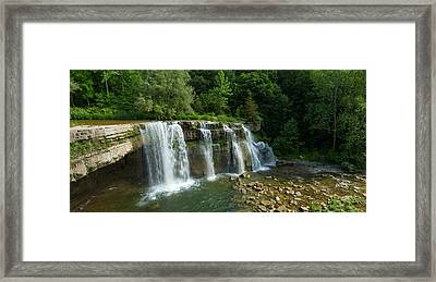 Ludlowville Falls On Salmon Creek Framed Print by Panoramic Images