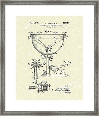 Ludwig Drums 1941 Patent Art Framed Print