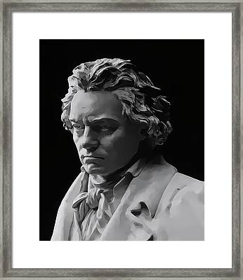 Framed Print featuring the mixed media Ludwig Van Beethoven by Daniel Hagerman