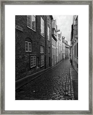 Luebeck Rainy Summer Framed Print