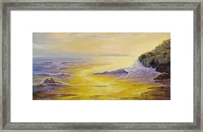 Framed Print featuring the painting Lufenholtz At Sunset by Rebecca Kimbel