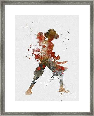 Luffy Framed Print by Rebecca Jenkins