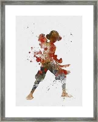 Luffy Framed Print by Rebecca Jenkins
