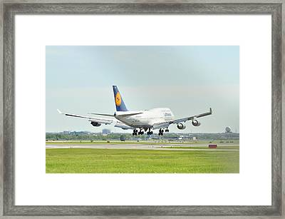 Lufthansa Airlines 747 Framed Print by Puzzles Shum