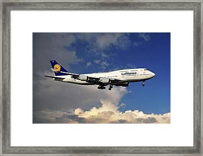 Lufthansa Boeing 747-430 Framed Print