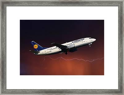 Lufthansa Framed Print