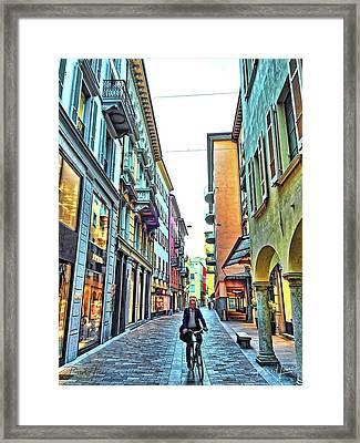 Lugano Switzerland Framed Print