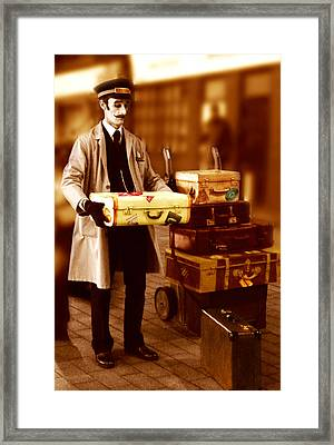 Luggage Please Framed Print by Peter Jenkins
