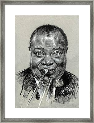 Louis  Armstrong Framed Print by Ylli Haruni