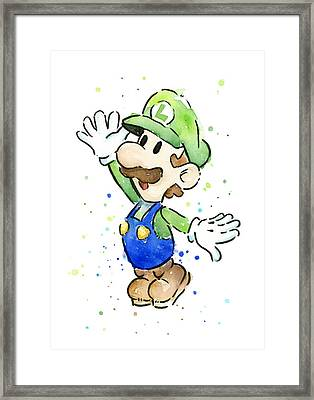Luigi Watercolor Framed Print