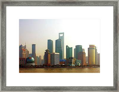 Lujiazui - Pudong Shanghai Framed Print by Christine Till