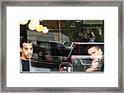 Luke And Andrew Framed Print by Sarah Loft