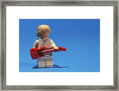 Luke Plays The Blues Framed Print