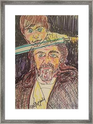 Luke Skywalker Then And Now Framed Print