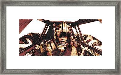 Luke Snowalker Framed Print by Kurt Ramschissel