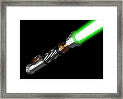 Luke's Lightaber IIi Framed Print by Nathan Shegrud