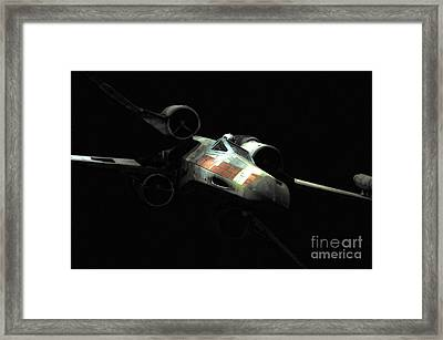 Luke's Original X-wing Framed Print by Micah May