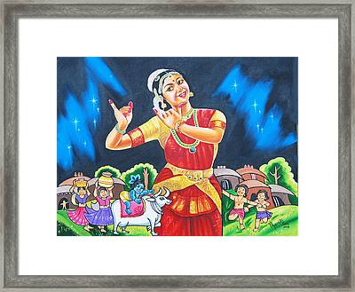 Lullaby Of Lord Krishna Framed Print by Ragunath Venkatraman