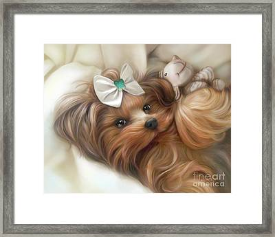 Lulu And Mr.lamb Framed Print