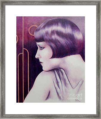 Lulu Portrait Of Louise Brooks Framed Print
