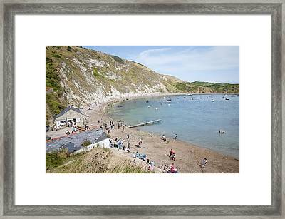 Lulworth Cove Dorset Uk Framed Print by Andy Smy