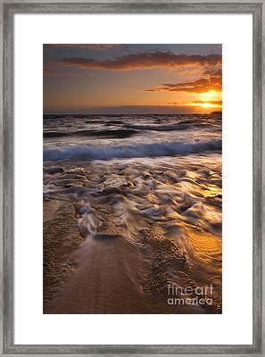 Lumaha'i Dawn Framed Print by Mike  Dawson