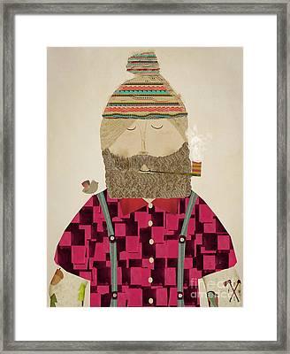 Lumberjack Jim Framed Print by Bri B