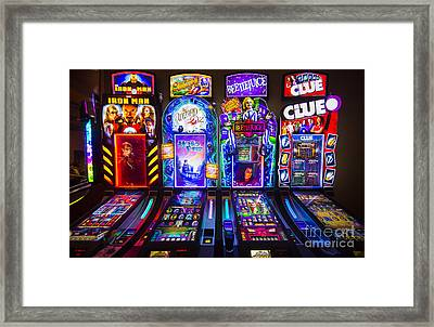 Lumiere Place Casino Slot Machines Framed Print by David Oppenheimer