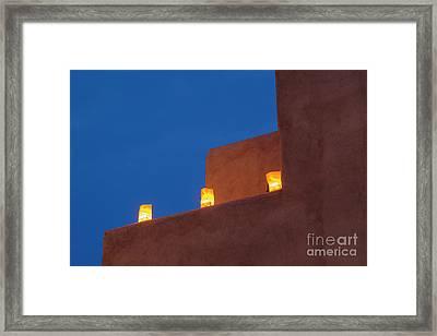 Luminarias At Twilight Framed Print by Brenda Tharp