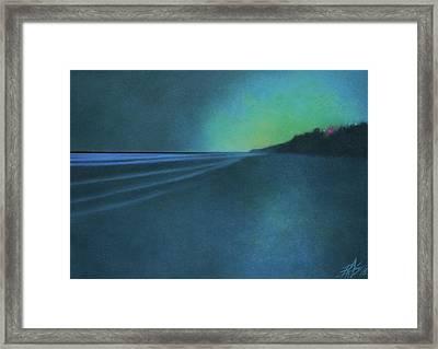 Luminescence At Torrey Pines II Framed Print by Robin Street-Morris