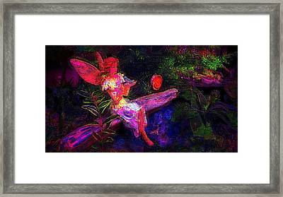 Framed Print featuring the photograph Luminescent Night Fairy by Lori Seaman